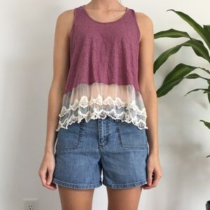 Tank top with Sheer Detailing